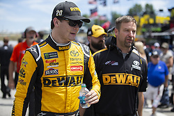 July 21, 2018 - Loudon, New Hampshire, United States of America - Erik Jones (20) gets ready to practice for the Foxwoods Resort Casino 301 at New Hampshire Motor Speedway in Loudon, New Hampshire. (Credit Image: © Stephen A. Arce/ASP via ZUMA Wire)