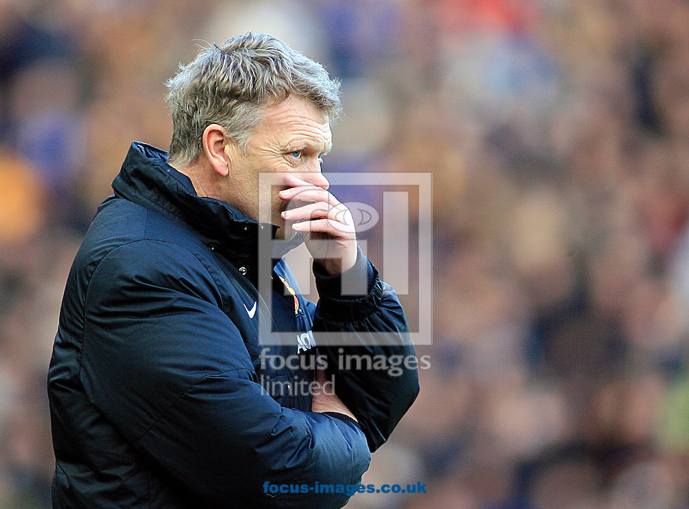 Picture by Richard Gould/Focus Images Ltd +44 7855 403186<br /> 26/12/2013<br /> David Moyes Manager of Manchester United during the Barclays Premier League match at the KC Stadium, Kingston upon Hull.