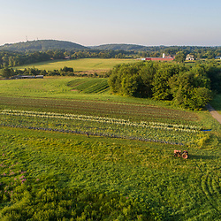 Farm fields on Kinney Hill in South Hampton, New Hampshire.