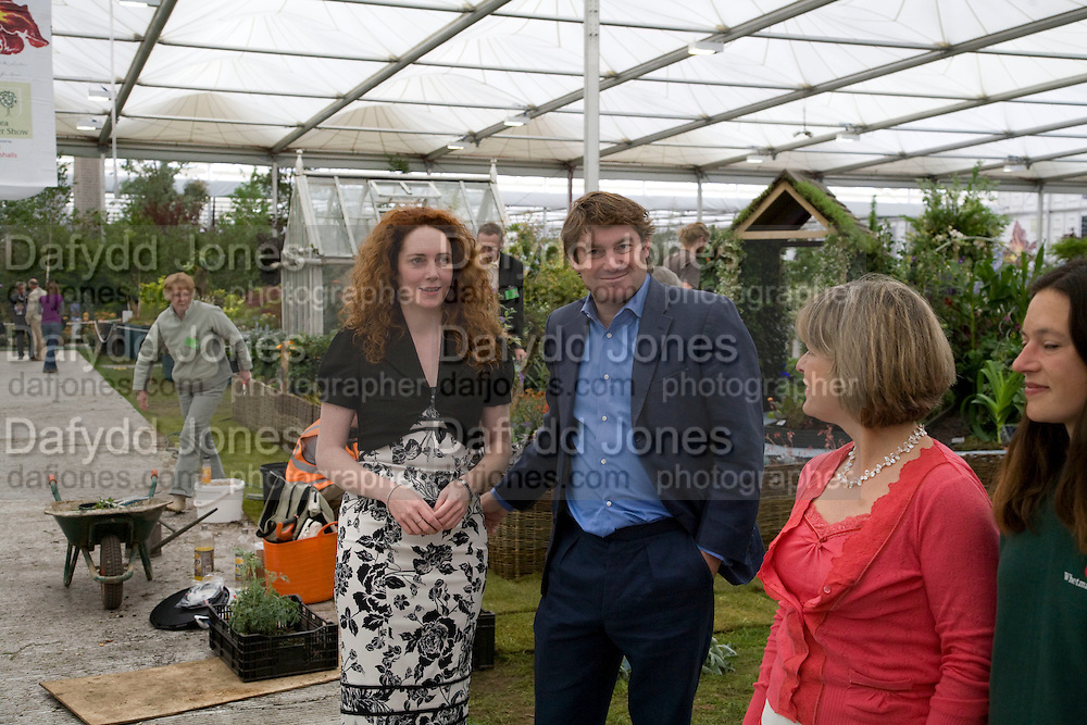 Rebekah Brooks: Charlie Brooks, Opening day of the Chelsea Flower Show. Royal Hospital Grounds. London. 19 May 2008 REBEKAH WADE AND HER MOTHER DEBORAH WADE.  *** Local Caption *** -DO NOT ARCHIVE-© Copyright Photograph by Dafydd Jones. 248 Clapham Rd. London SW9 0PZ. Tel 0207 820 0771. www.dafjones.com.