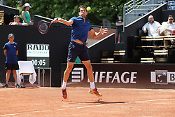 May 22, 2018 - Lyon, France - GUILLERMO GARCIA LOPEZ  DURING THE MATCH FOR  ATP 250 IN LYON 22.05.2018 (Credit Image: © Panoramic via ZUMA Press)