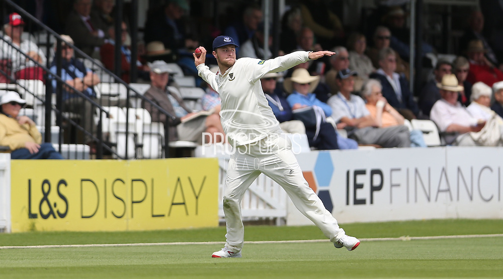 Ollie Robinson fielding during the LV County Championship Div 1 match between Sussex County Cricket Club and Hampshire County Cricket Club at the BrightonandHoveJobs.com County Ground, Hove, United Kingdom on 8 June 2015.