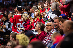 Chicago Blackhawks fans during NHL game between teams Chicago Blackhawks and Philadelphia Flyers at NHL Global Series in Prague, O2 arena on 4th of October 2019, Prague, Czech Republic. Photo by Grega Valancic / Sportida