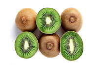 Kiwi on white background - studio shot