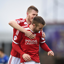 Swindon Town's Andy Williams celebrates his goal against Chesterfield in the Sky Bet League One match between Swindon Town and Chesterfield at The County Ground on January 17, 2015 in Swindon, England. - Photo mandatory by-line: Paul Knight/JMP - Mobile: 07966 386802 - 17/01/2015 - SPORT - Football - Swindon - The County Ground - Swindon Town v Chesterfield - Sky Bet League One