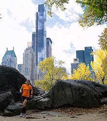 02-11-2013 ALGEMEEN: BVDGF NY MARATHON: NEW YORK <br /> Parcours verkenning en laatste training in het Central Park / Cordien<br /> ©2013-FotoHoogendoorn.nl