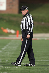 20 October 2012: Head Linesman Frank Bullock  during an NCAA Missouri Valley Football Conference football game between the Missouri State Bears and the Illinois State Redbirds at Hancock Stadium in Normal IL