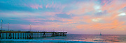 Venice Beach, CA, Beautiful, Fire Red Sky, Sunset, Pier, Concrete, Washington Street, Pacific Ocean,