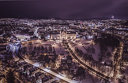 THEMENBILD - die Technisch-Naturwissenschaftliche Universität Norwegens mit den Stadtlichtern, aufgenommen am 13. Maerz 2019 in Trondheim, Norwegen // the Norwegian Technical and Natural Science University with the city lights, Trondheim, Norway on 2018/03/13. EXPA Pictures © 2019, PhotoCredit: EXPA/ JFK