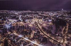 THEMENBILD - die Technisch-Naturwissenschaftliche Universität Norwegens mit den Stadtlichtern, aufgenommen am 13. Maerz 2019 in Trondheim, Norwegen // the Norwegian Technical and Natural Science University with the city lights, Trondheim, Norway on 2018/03/13. EXPA Pictures © 2019, PhotoCredit: EXPA/ JFK