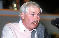 Doug Hoyle, MP, Warrington South, Labour Party, UK, speaking, annual conference, September 1986, 19860914DH1<br />