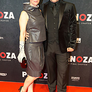 NLD/Amsterdam/20191118 - Filmpremiere Penoza: The Final Chapter, Loek Peters met zijn vader en partner Ilse Heus