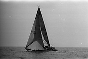 Round Ireland Yacht Race.  (R81)..1988..18.06.1988..06.18.1988..18th June 1988..The Round Ireland Yacht Race set sail from Wicklow today. Yachts from all over Europe took part in the start as the race got underway. The race is sponsored by Cork Dry Gin...Moonduster, The Cork Dry Gin Round Ireland Record Holder, is pictured under sail as she sets off on the Round Ireland Race.