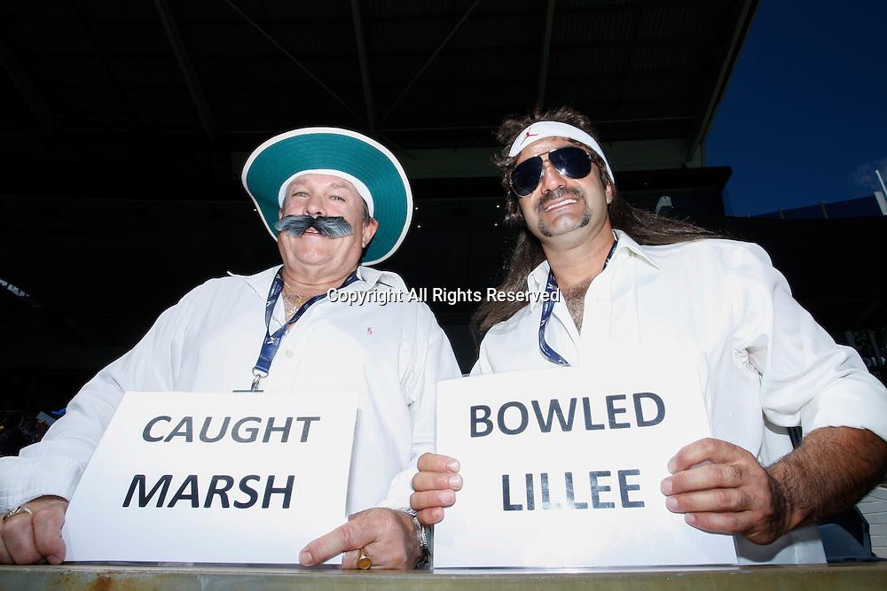 January 19th 2017, Waca Ground, Perth, Australia; Victoria Bitter ODI Cricket, Australian versus Pakistan-3rd ODI; Australian supporters dressed up for the one day game.