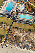 Aerial view of the swim club in Kiawah Island, SC.