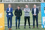 2018-030-21. DVSU, Utrecht. Kick-off sportplaatjesactie. Op de foto: Sebastiaan van Duijn, Toine van Peperstraten, Edwin Zoetebier en Paulus Jansen