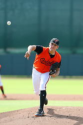 July 17, 2018 - Sarasota, FL, U.S. - Sarasota, FL - JUL 17: 2018 Baltimore Orioles first round pick Grayson Rodriguez (36) delivers a pitch to the plate during the Gulf Coast League (GCL) game between the GCL Twins and the GCL Orioles on July 17, 2018, at Ed Smith Stadium in Sarasota, FL. (Photo by Cliff Welch/Icon Sportswire) (Credit Image: © Cliff Welch/Icon SMI via ZUMA Press)