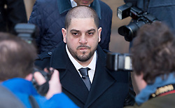 © London News Pictures. 18/02/2013 . London, UK.  Derek Rose (centre) leaving Southwark Crown Court on February 18, 2013 where he is one of two men accused of blackmailing Tamara Ecclestone, the daughter of Formula 1 Supremo, Bernie Ecclestone, for £200,000. Photo credit : Ben Cawthra/LNP