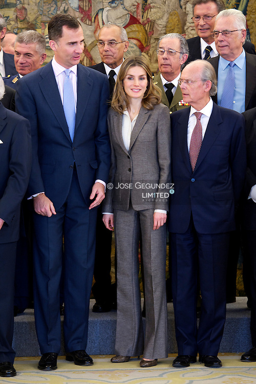 Prince Felipe and Princess Letizia attend an audience with Board of the Spanish Confederation of Organisations of Seniors (CEOMA) at Zarzuela Palace in Madrid