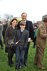 the HON.HARRY & CHICA HERBERT and their son WILL HERBERT at the Hennessy Gold Cup at Newbury Racecourse, Berkshire on 26th November 2011.