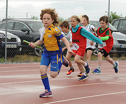 Sarah Dempsey from Knockmore competing in the Mixed U10 relay at the Mayo Community Games.<br />Pic Conor McKeown