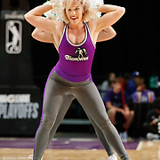 The Lady Bighorn Dancers perform during the Western Conference Semi-Final NBA G-League Basketball game between the Reno Bighorns and the South Bay Lakers at the Reno Events Center in Reno, Nevada.