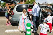 Houthalen Belgium  14 MAI 2017 Het Lentefeest van HVV/DE MENS is een seculiere communie viering om de overgang te vieren, tegelijk voor 6 en 12 jarigen.NA de viering vertrekt iedereen naar huis om een feestje te bouwen of gewoon gezellig met de familie te zijn