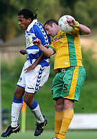 Photo: Maarten Straetemans.<br /> FC Zwolle v Norwich City. Pre Season Friendly. 25/07/2007.<br /> Mark Fotheringham of Norwich City (right)