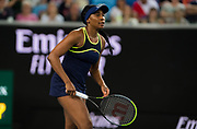 Venus Williams of the United States in action during her first round match at the 2020 Australian Open, WTA Grand Slam tennis tournament on January 20, 2020 at Melbourne Park in Melbourne, Australia - Photo Rob Prange / Spain ProSportsImages / DPPI / ProSportsImages / DPPI