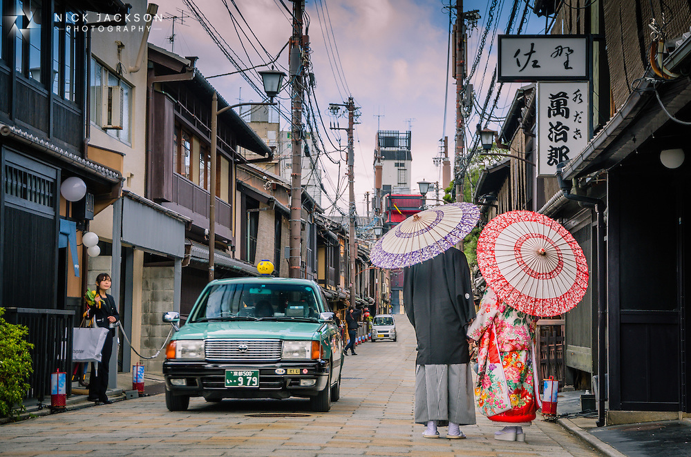 Seeing a Japanese couple in traditional dress is rare on the streets of Kyoto so I had to be quick to snap these two as they walked down the street