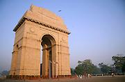 inida gate in the evening sky, delhi, india