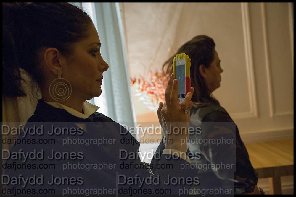 AMALEISA STEVENS; MAJA HOFFMANN, James Franco talk and supper at Mansfield St. hosted by Maja Hoffmann. London. 23 November 2014