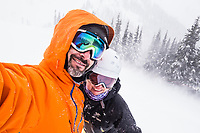 #ReadyForSnow It's time. This is a few years ago at Crystal Mountain Resort. We were the last ones off the chairlift to the summit before they closed it for too much wind. #GoodTimes #Winter #Skiing #ReadyForWinter. @TimothyMMcGuire and @Amywormsworld #BlizzardSelfies