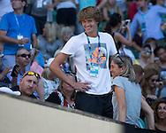 ALEXANDER ZVEREV (GER),Mutter Irina und Fitness Coach Jez Green in der Spielerloge<br /> <br /> <br /> <br /> Australian Open 2017 -  Melbourne  Park - Melbourne - Victoria - Australia  - 22/01/2017.