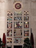Wall clock at Rockefeller Center, New York City