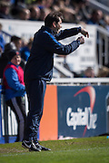 Jackie McNamara Manager of York City FC during  the Sky Bet League 2 match between Hartlepool United and York City at Victoria Park, Hartlepool, England on 16 April 2016. Photo by George Ledger.