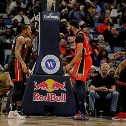 Dec 16, 2018; New Orleans, LA, USA; New Orleans Pelicans forward Anthony Davis (23) reacts after a dunk against the Miami Heat during the first half at the Smoothie King Center. Mandatory Credit: Derick E. Hingle-USA TODAY Sports