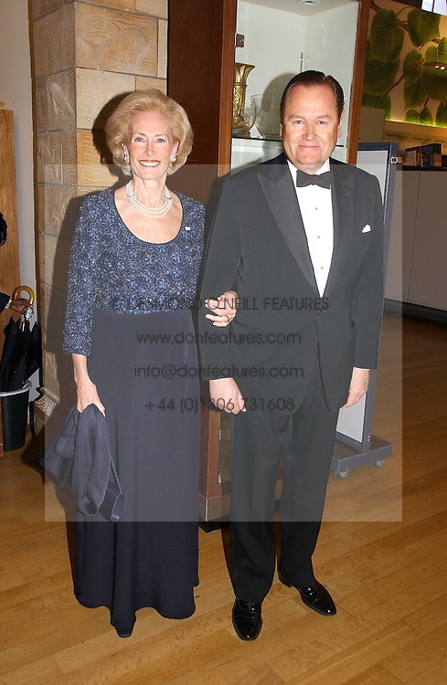 MR JOHAN BECKMAN and his wife ELIANE DE GUNZBURG BECKMAN Lady in Waiting to The Queen of Sweden at a gala dinner in the presence of HM Quenn Silvia of Sweden and HM Queen Noor of Jordan in aid of the charity Mentor held at the Natural History Museum, Cromwell Road, London on 23rd May 2006.<br />