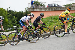 Clara Koppenburg (GER) and Giorgia Bronzini (ITA)at Giro Rosa 2018 - Stage 5, a 122.6 km road race starting and finishing in Omegna, Italy on July 10, 2018. Photo by Sean Robinson/velofocus.com