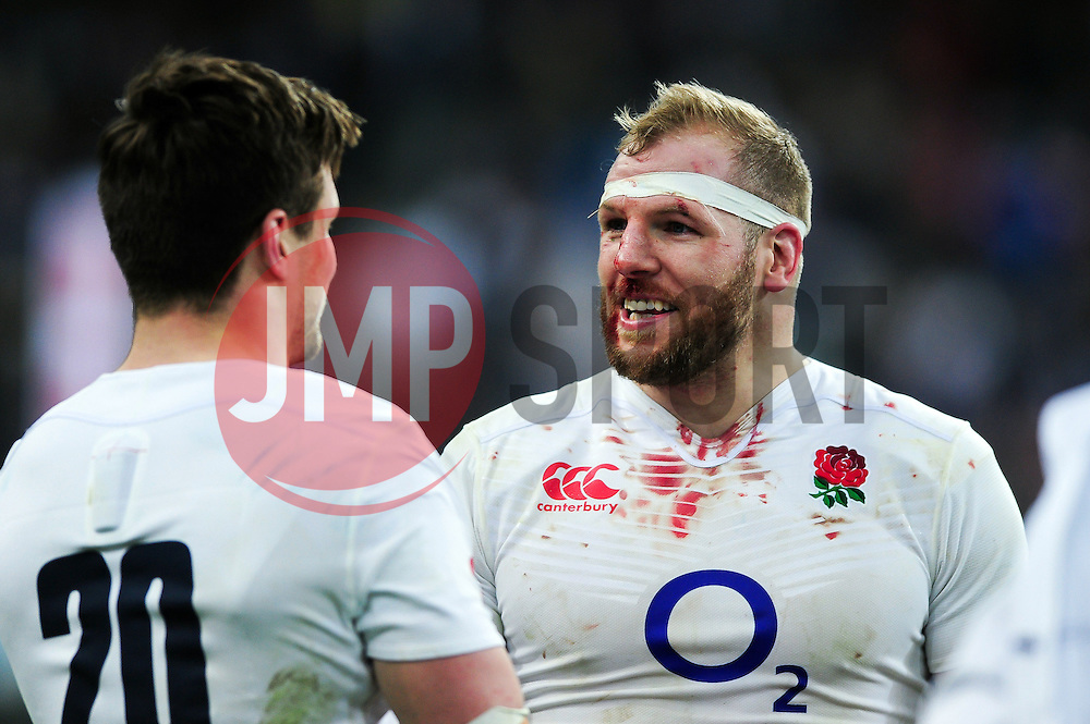 James Haskell of England is all smiles after the match - Mandatory byline: Patrick Khachfe/JMP - 07966 386802 - 19/03/2016 - RUGBY UNION - Stade de France - Paris, France - France v England - RBS Six Nations.