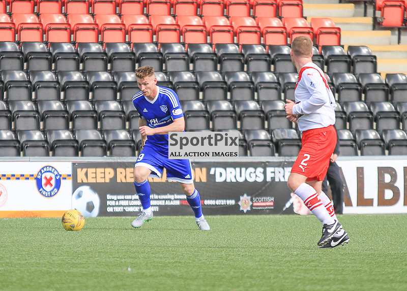 Airdrieonians V Peterhead  Scottish League One 29 August 2015;  Peterhead's Rory McAllister during the Airdrieonians V Peterhead Ladbrokes Scottish League One match played at Excelsior Stadium, Airdrie.