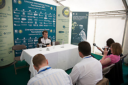 Liverpool, England - Tuesday, June 12, 2007: Greg Rusedski at a press conference on day one of the Liverpool International Tennis Tournament at Calderstones Park. For more information visit www.liverpooltennis.co.uk. (Pic by David Rawcliffe/Propaganda)