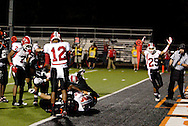 Despite the signal from sophomore Tristan Davis (25) the officials say that senior Jalen Mack (32) didn't quite make it into the end zone as the Wayne Warriors play the Beavercreek High School Beavers at the Frank Zink Field in Beavercreek, Friday, October 7, 2011.