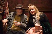 WILFRED D'EATH, MARY KILLEN The Oldie Xmas party, The Garrick club. London, , 10 December 2019