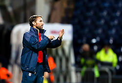 England U21 Manager, Gareth Southgate gives instructions to his players  - Mandatory byline: Matt McNulty/JMP - 07966386802 - 03/09/2015 - FOOTBALL - Deepdale Stadium -Preston,England - England U21 v USA U23 - U21 International