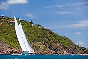 Windrose sailing in the 2010 Antigua Classic Yacht Regatta, Windward Race, day 4.