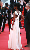 Aïssa Maïga at the the Mr. Turner gala screening red carpet at the 67th Cannes Film Festival France. Thursday 15th May 2014 in Cannes Film Festival, France.