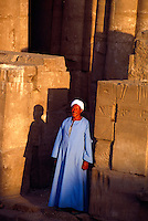 Egyptian man at the Luxor Temple, Luxor, Egypt