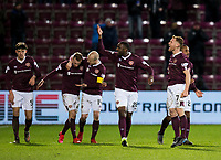 Football - 2019 / 2020 William Hill Scottish Cup - Quarter-Final: Heart of Midlothian vs. Rangers<br /> <br /> Oliver Bozanic of Hearts  celebrates scoring to make it 1-0 to Hearts, at Tynecastle Park, Edinburgh.<br /> <br /> COLORSPORT/BRUCE WHITE
