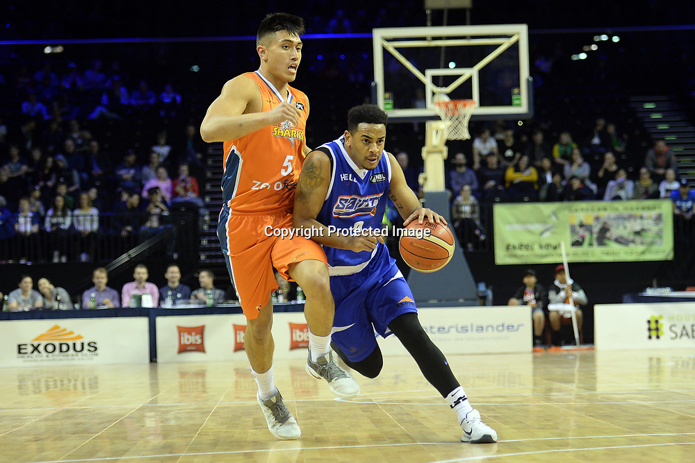 Wellington Saints' Corey Webster in action during the NBL match between Wellington Saints v Southland Sharks, TSB Arena, Friday 19th May 2017. Copyright Photo: Raghavan Venugopal / www.photosport.nz